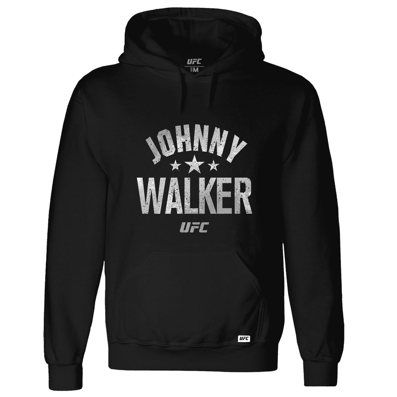 Men's UFC Johnny Walker Old School Hoodie-Black