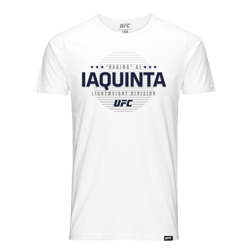 "Men's UFC ""Raging"" Al Iaquinta Graphic T-Shirt-White"