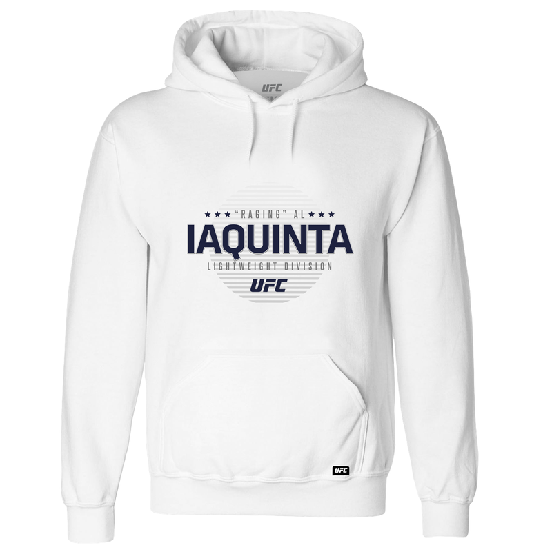 "Men's UFC ""Raging"" Al Iaquinta Graphic Hoodie-White"