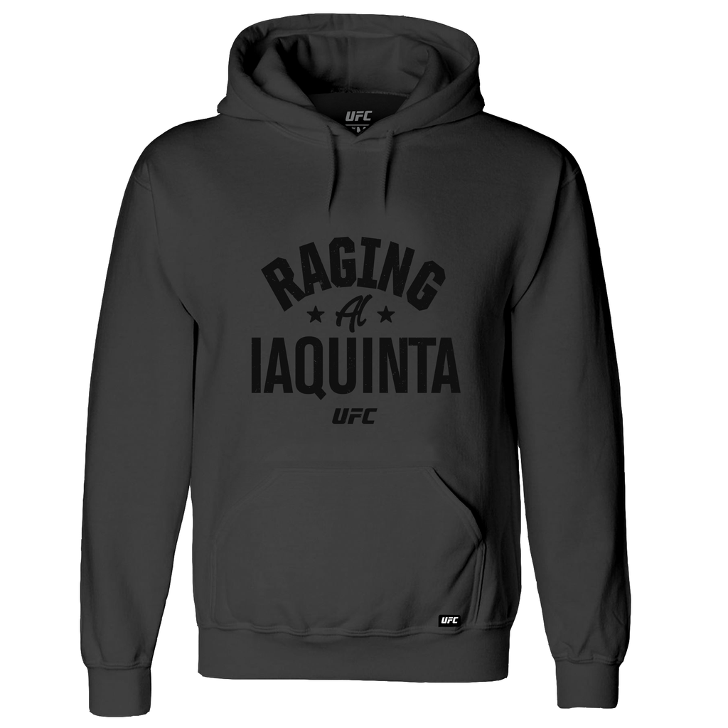 "Men's UFC ""Raging"" Al Iaquinta Old School Hoodie-Charcoal"