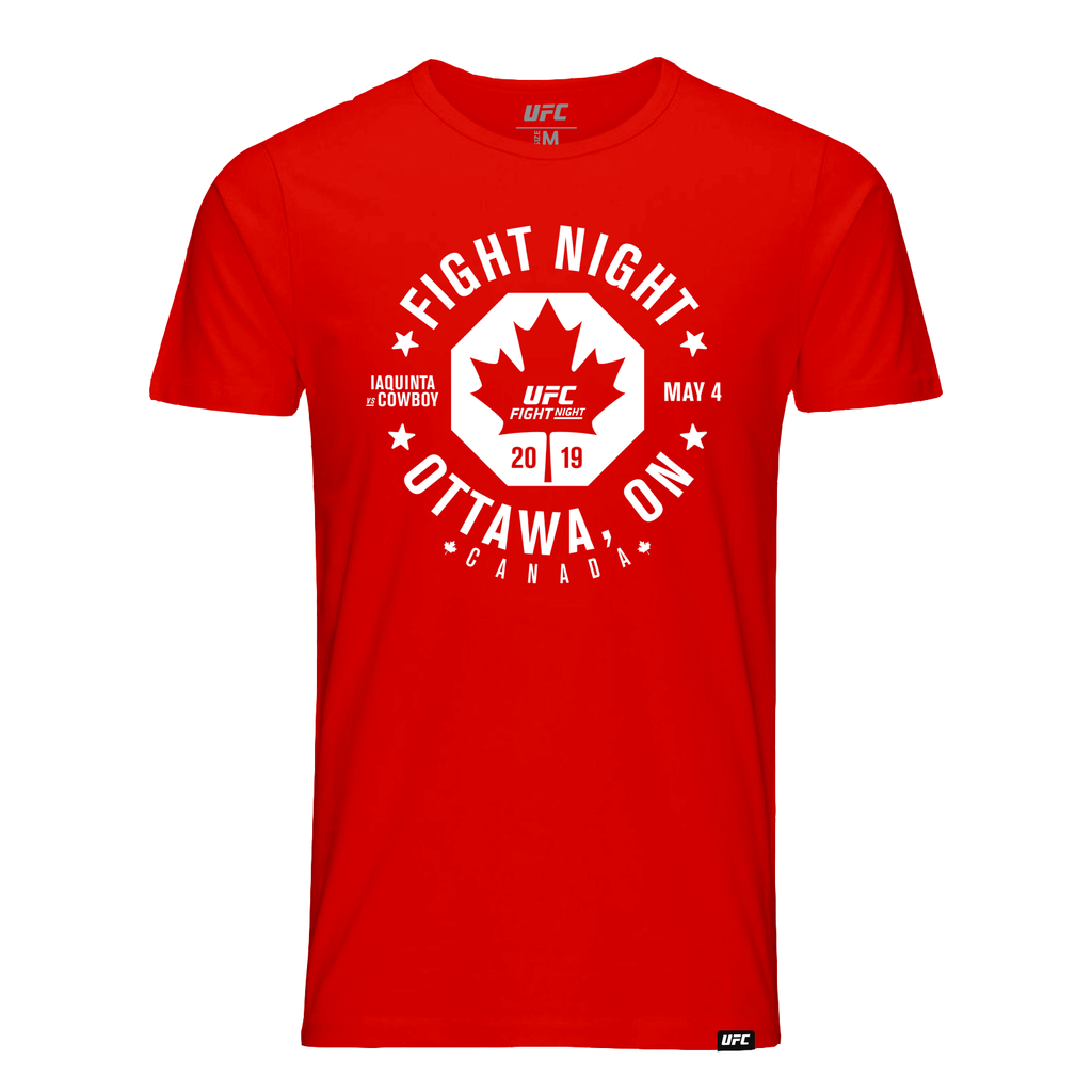 Men's UFC Iaquinta vs Cowboy Fight Night Ottawa, ON City T-Shirt-Red