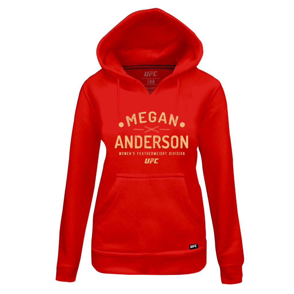 Women's UFC Megan Anderson Graphic Hoodie - Red