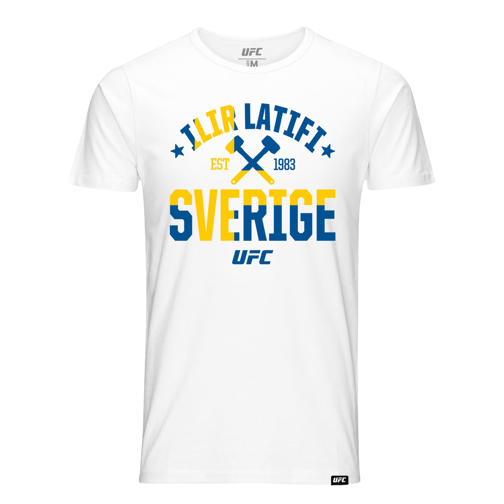 "Men's UFC Ilir ""The Sledgehammer"" Latifi Script T-Shirt -White"
