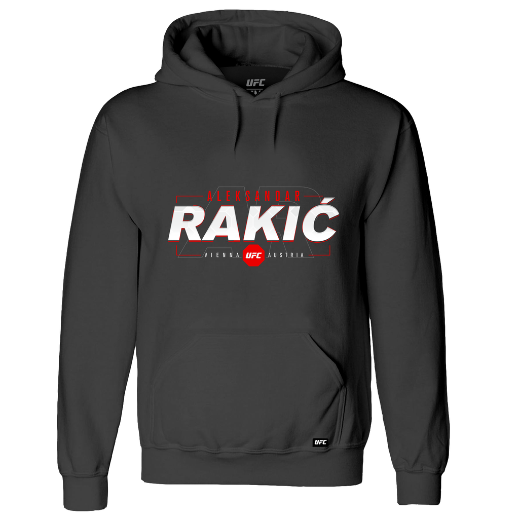 Men's UFC Aleksandar Rakić Graphic Hoodie- Charcoal