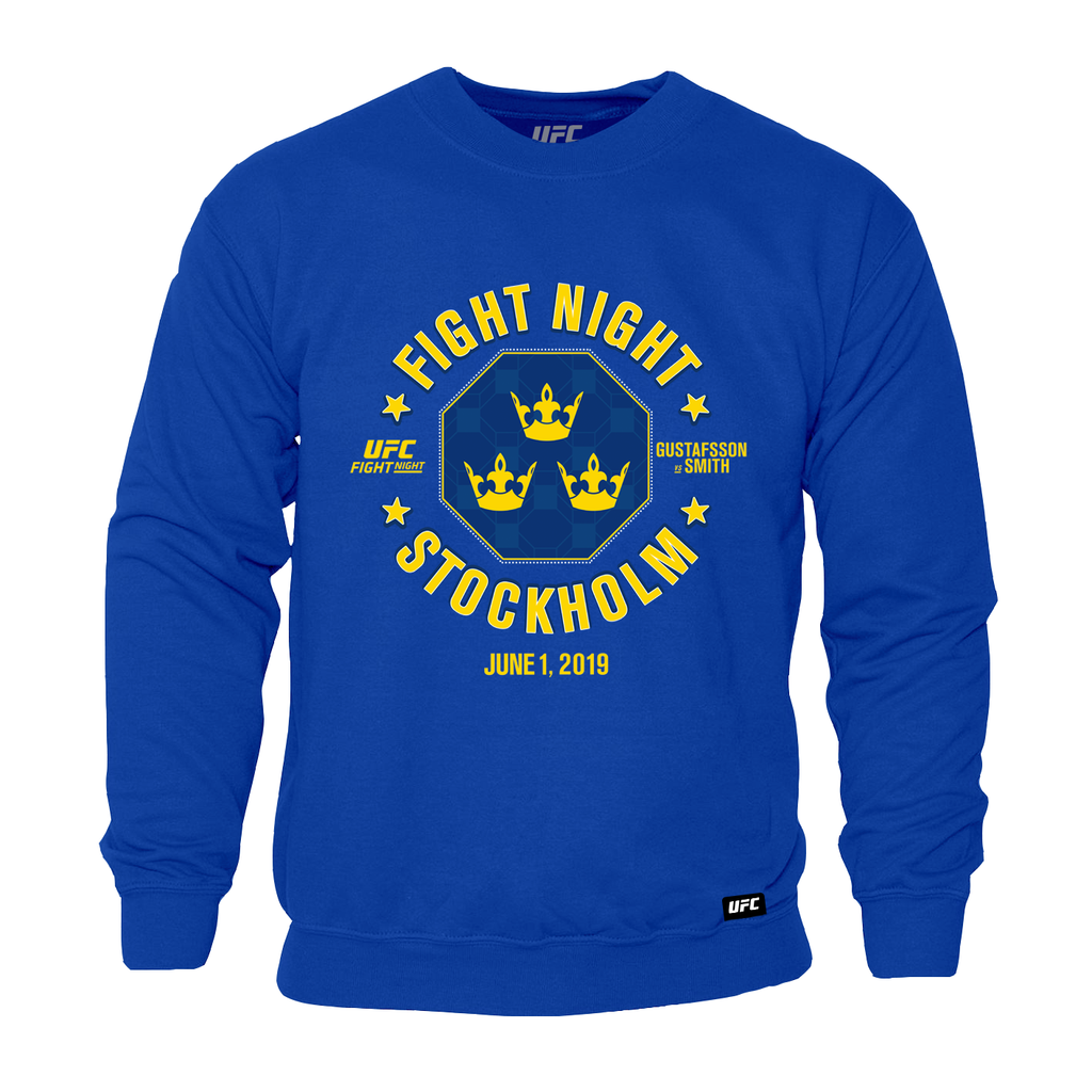 Men's Fight Night Stockholm Gustafsson vs. Smith Octogen Sweatshirt- Royal