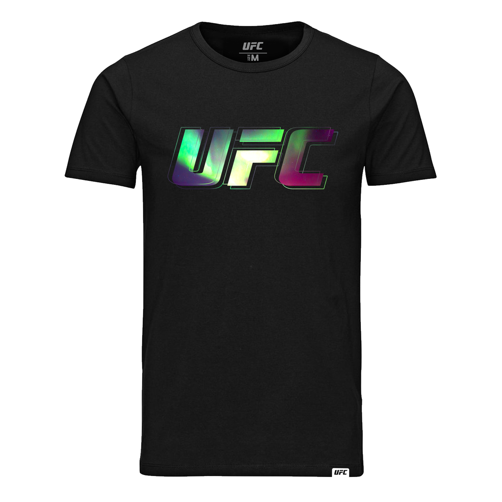 Men's UFC Northern Lights Logo T-Shirt- Black