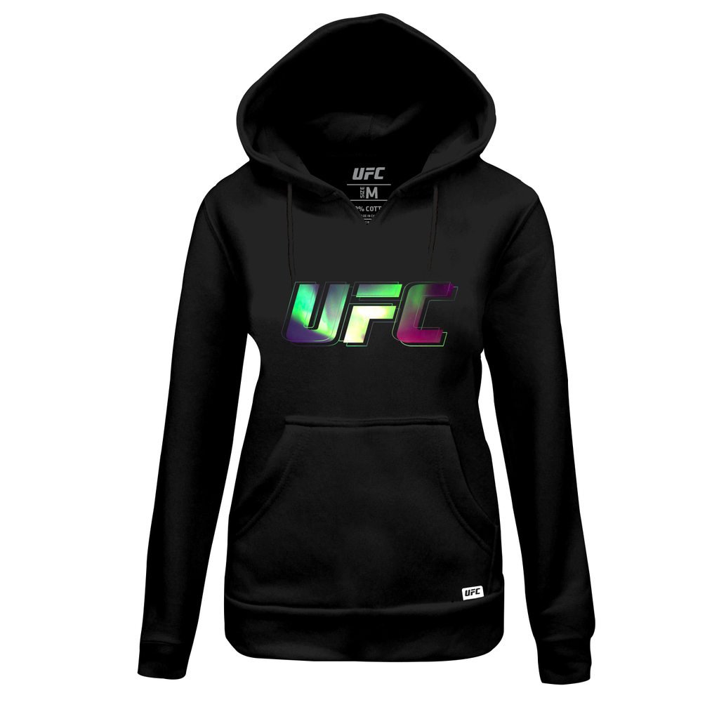 Women's UFC Northern Lights Logo Hoodie- Black