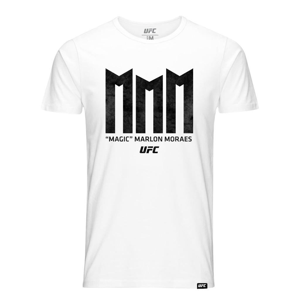 "Men's UFC ""Magic"" Marlon Moraes Triple M T-Shirt-White"