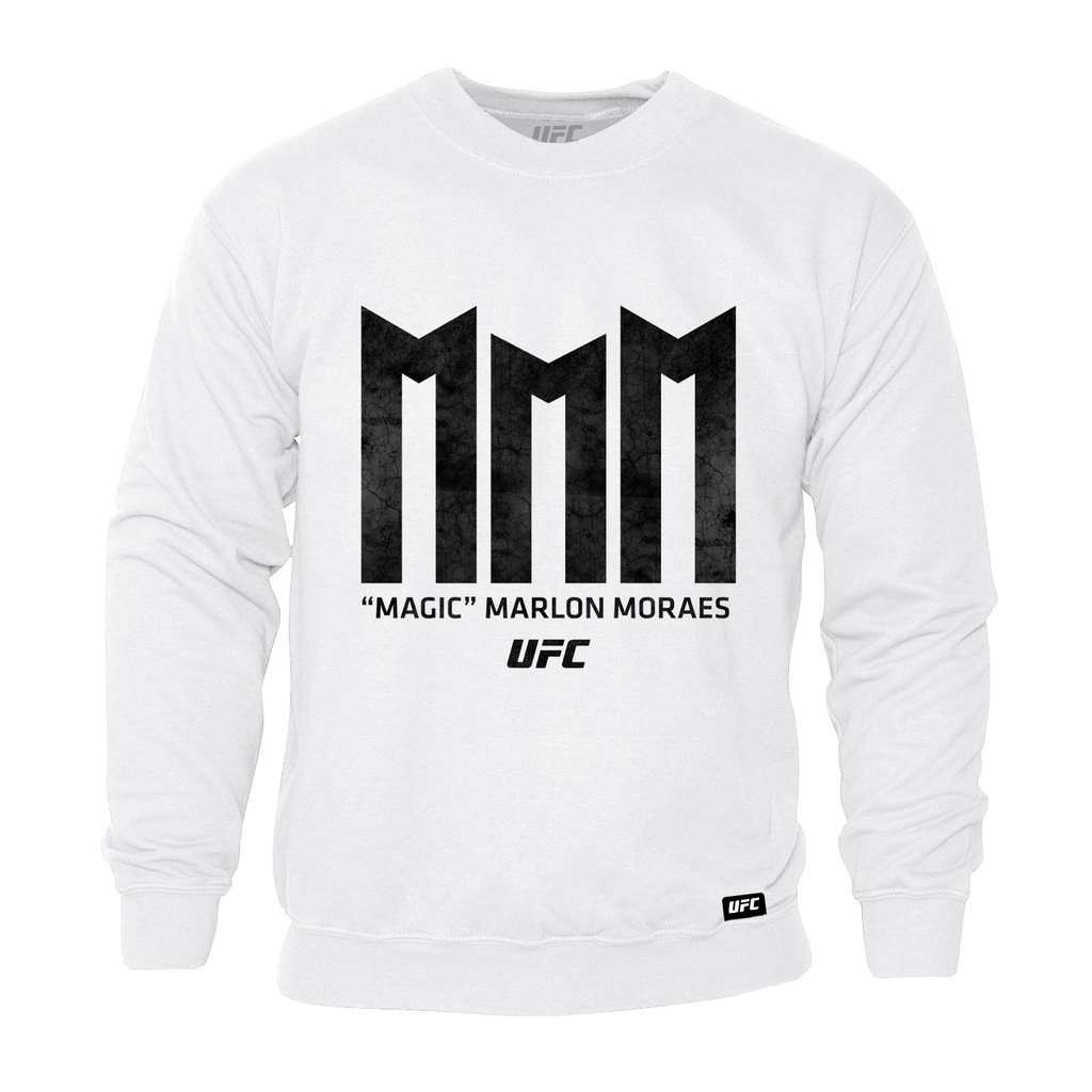 "Men's UFC ""Magic"" Marlon Moraes Triple M Sweatshirt-White"