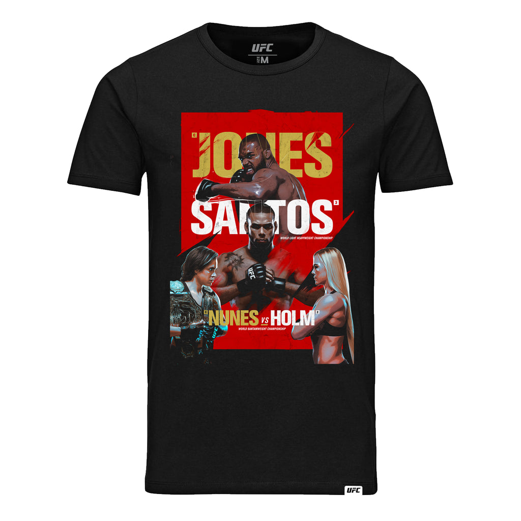 Kid's UFC 239 Jones vs Santos Event T-Shirt-Black