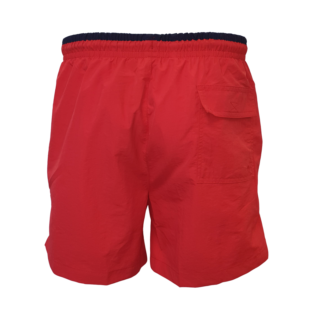 UFC White Logo Swim Shorts - Red/Navy