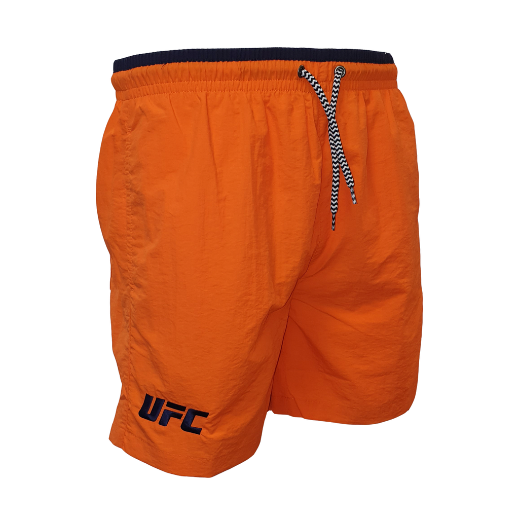 UFC Navy Logo Swim Shorts - Orange/Navy