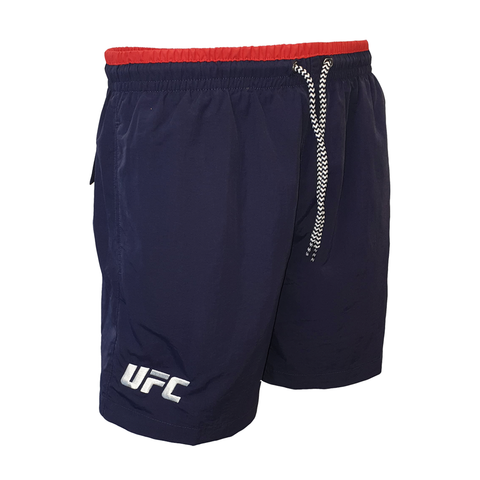 UFC Campus Embroidered Logo Shorts-Black