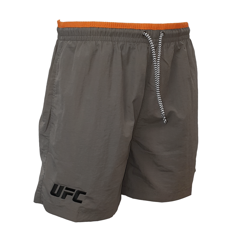 UFC Charcoal Logo Swim Shorts - Charcoal/Orange