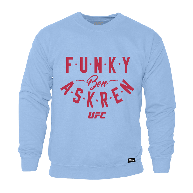 "Men's UFC Ben ""Funky"" Askren Graphic Sweatshirt- Blue"