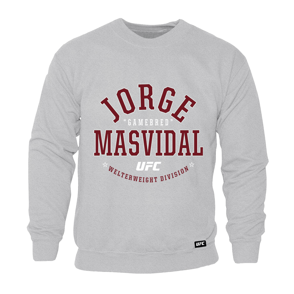"Men's UFC Jorge ""Gamebred"" Masvidal College Graphic Sweatshirt- Grey"