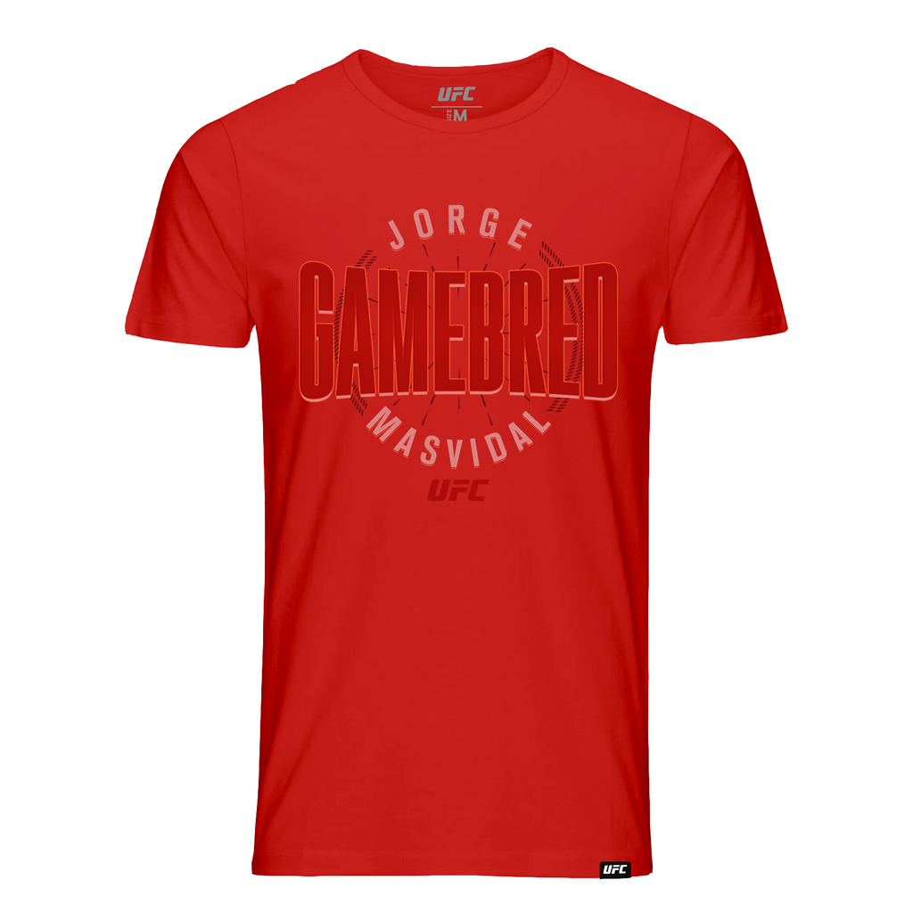 "Men's UFC Jorge ""Gamebred"" Masvidal Fade T-Shirt- Red"