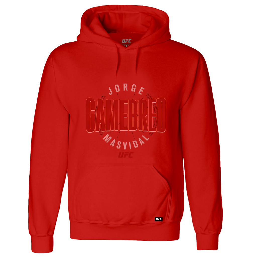 "Men's UFC Jorge ""Gamebred"" Masvidal Fade Hoodie- Red"