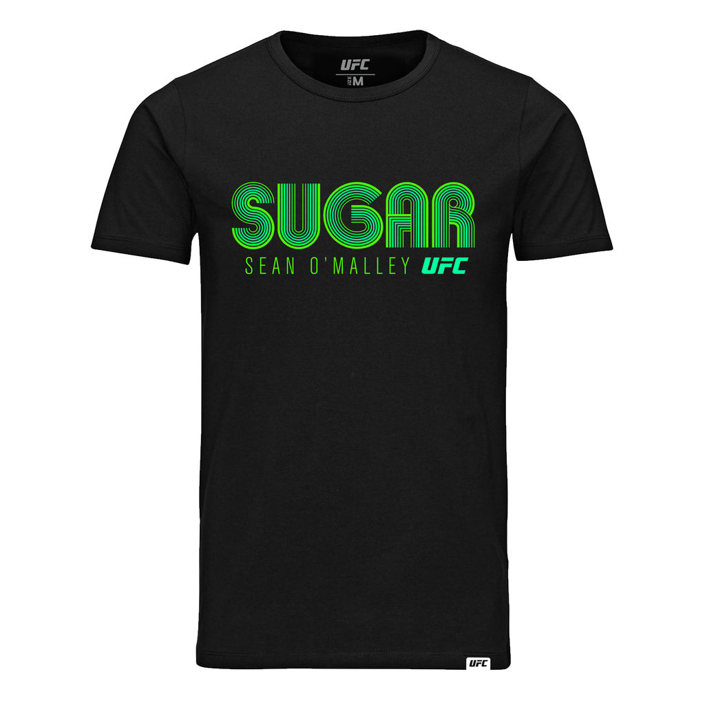 "Men's UFC Sean ""Sugar"" O'Malley Lined Graphic T-Shirt- Black"