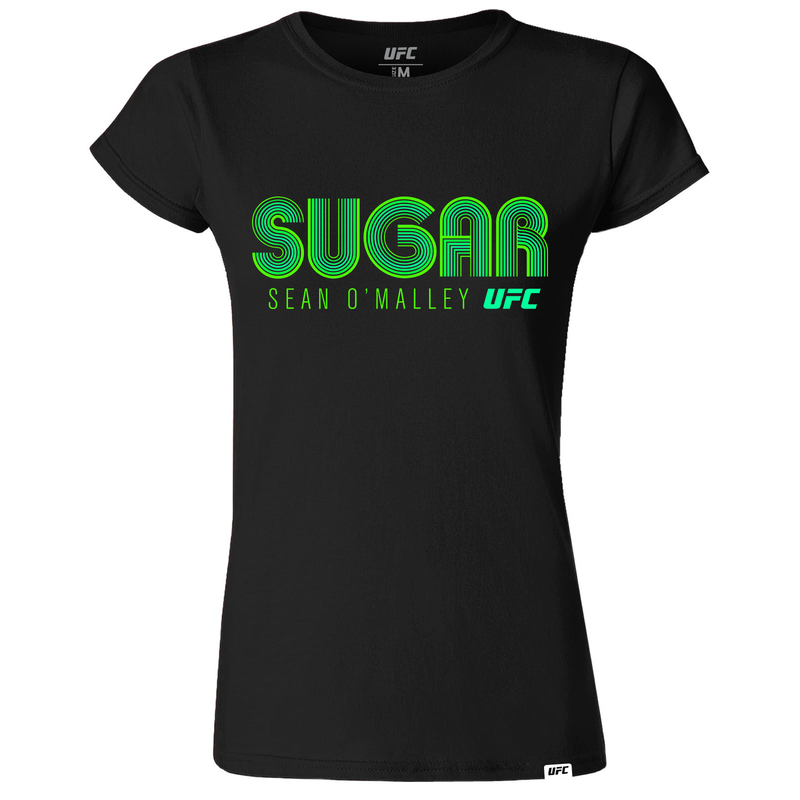 "Women's UFC Sean ""Sugar"" O'Malley  Masvidal Lined Graphic  T-Shirt- Black"