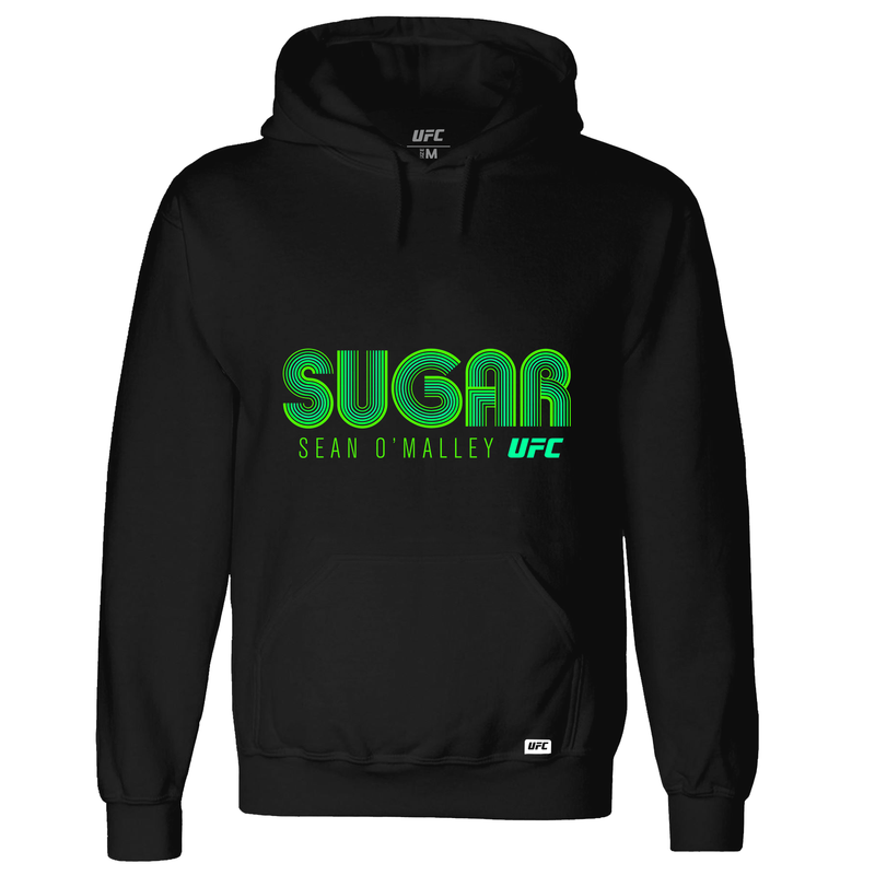 "Men's UFC Sean ""Sugar"" O'Malley Lined Graphic Hoodie- Black"