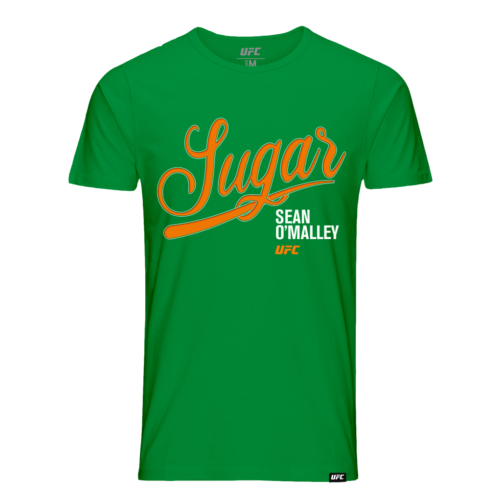 "Kid's UFC Sean ""Sugar"" O'Malley Script T-Shirt- Green"