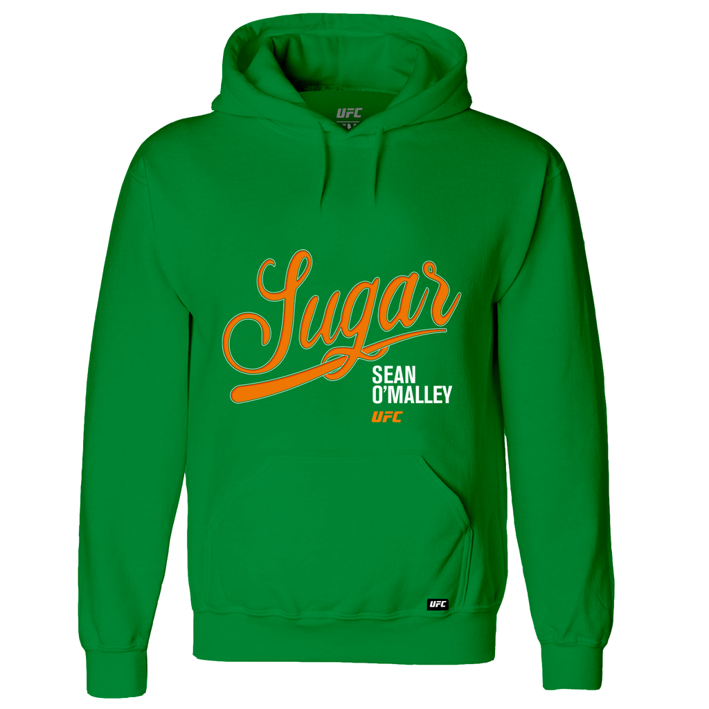 "Men's UFC Sean ""Sugar"" O'Malley Script Hoodie- Green"