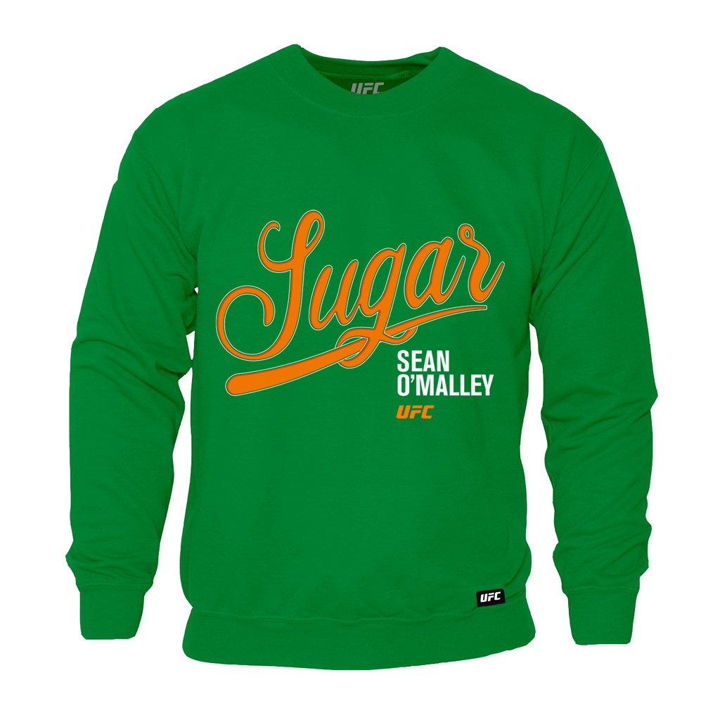 "Men's UFC Sean ""Sugar"" O'Malley Script Sweatshirt- Green"