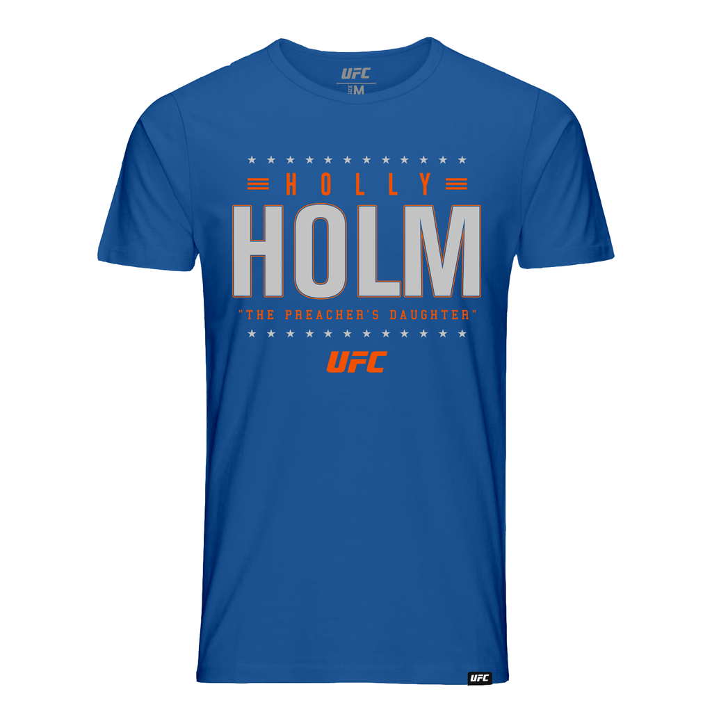 "Men's UFC Holly ""The Preachers Daughter"" Holm Champion Star Graphic T-Shirt-Royal"