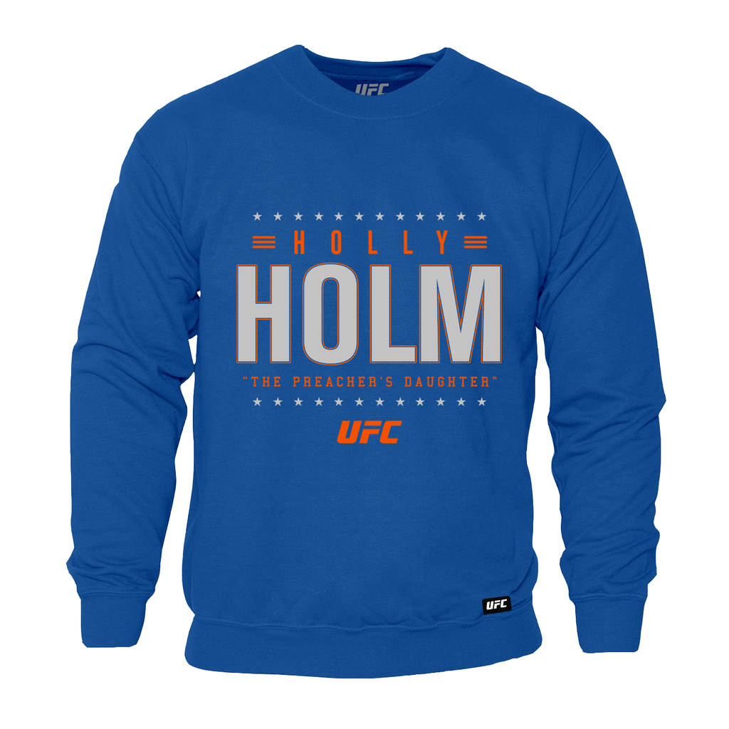 "Men's UFC Holly ""The Preachers Daughter"" Holm Champion Star Graphic Sweatshirt-Royal"