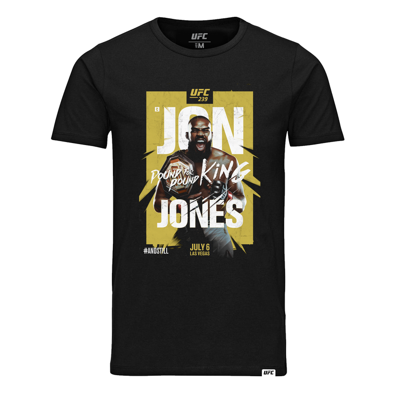 #AndStill UFC 239 Men's Jon Jones Poster T-Shirt- Black