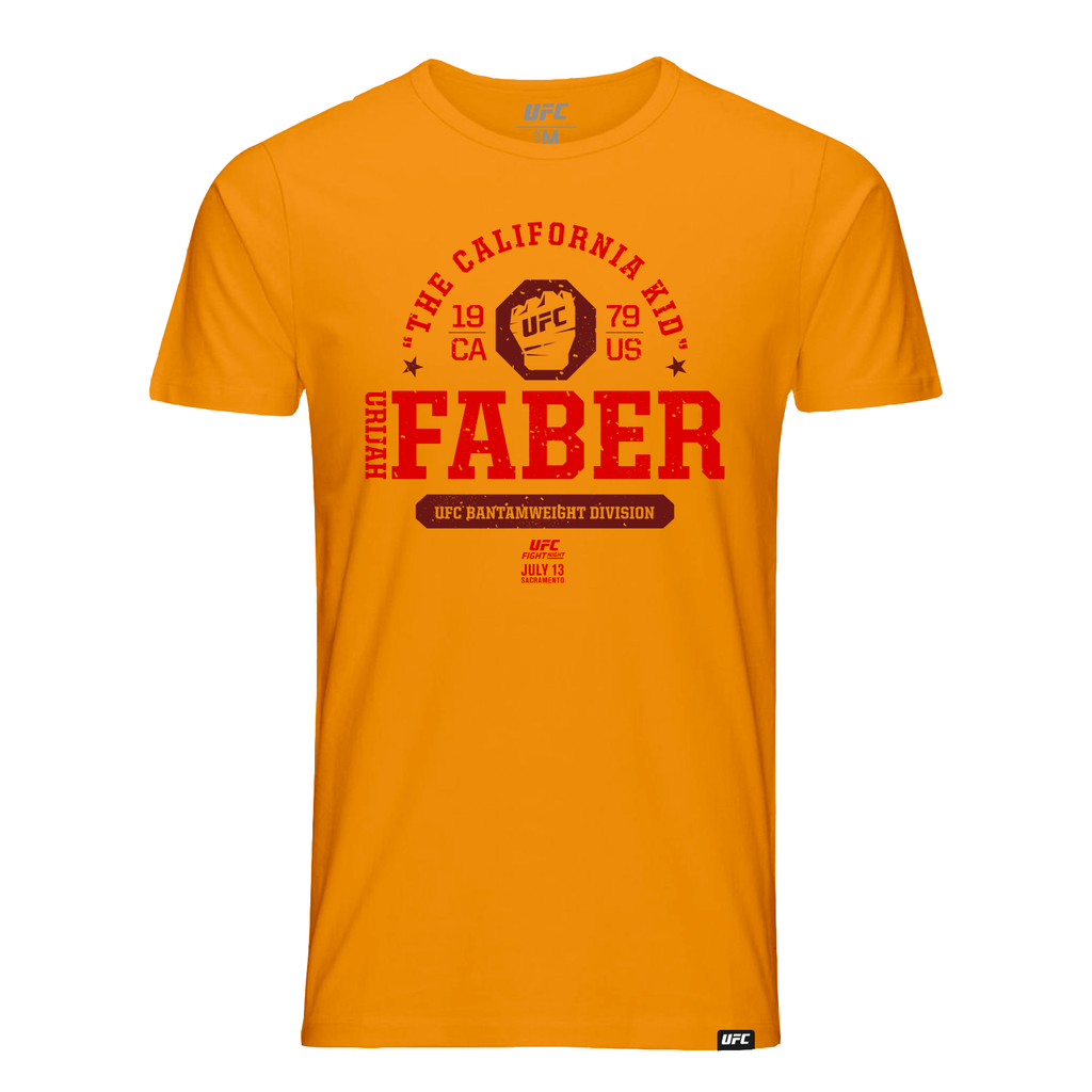 "Men's UFC Fight Night Urijah ""The California Kid"" Faber Octagon Fist Tee- Orange"