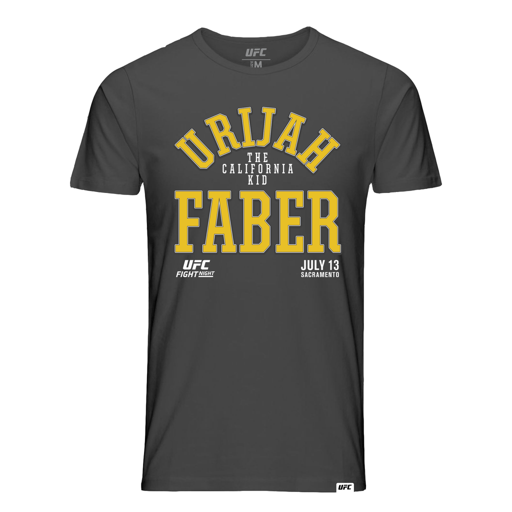 "Men's UFC Fight Night Urijah ""The California Faber Old School Tee- Charcoal"