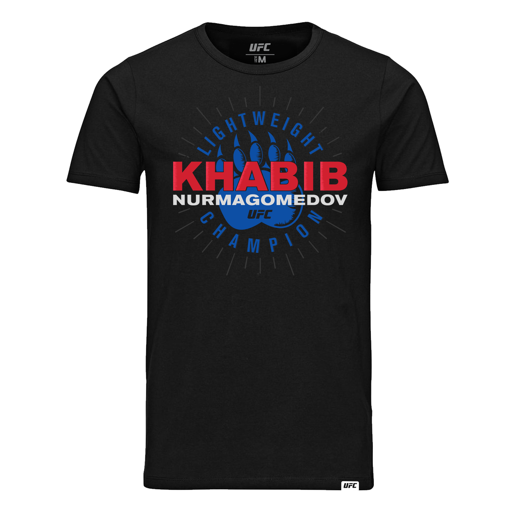 "UFC Men's UFC Khabib ""The Eagle"" Nurmagomedov Bear Claw Graphic T-Shirt -Black"