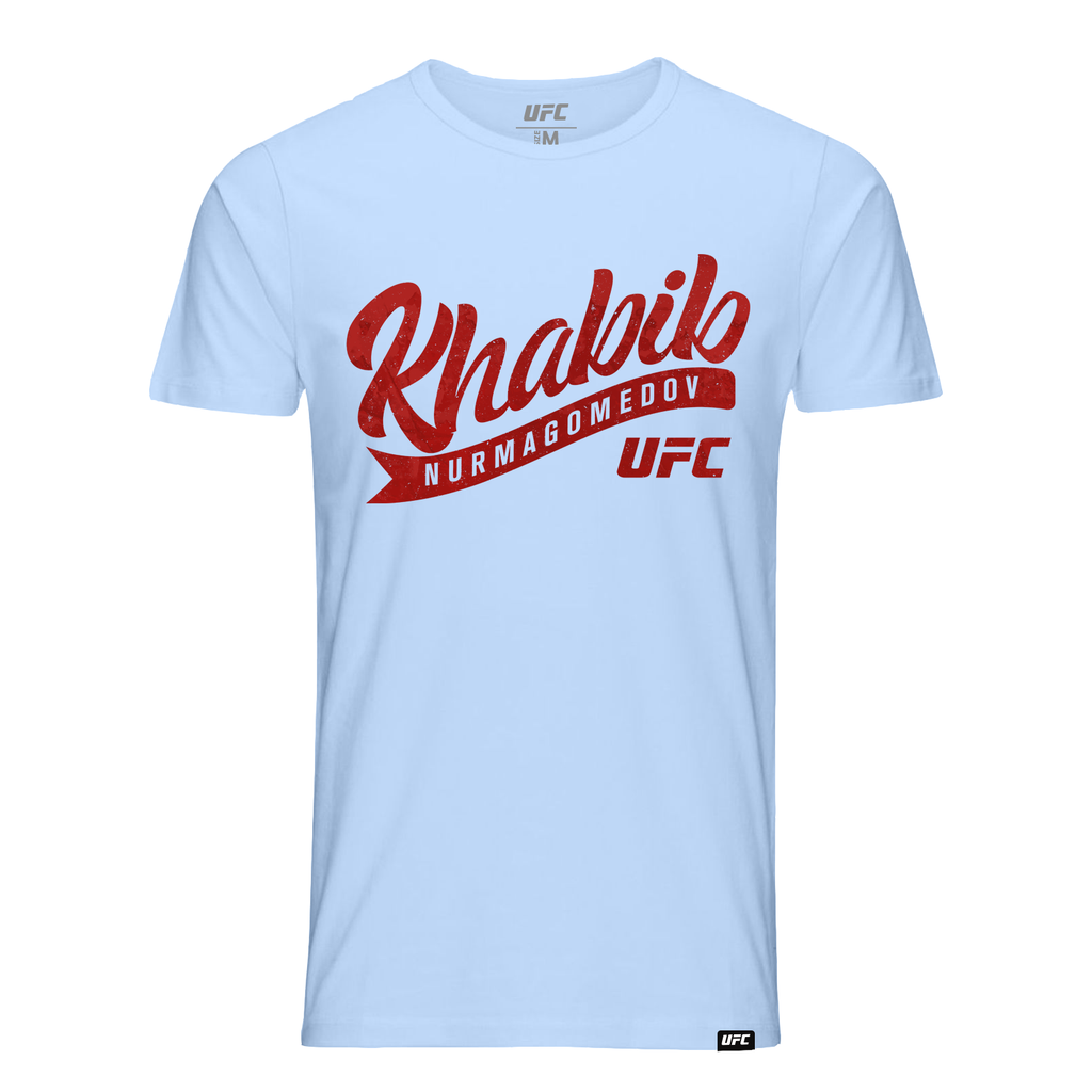 "UFC Men's UFC Khabib ""The Eagle"" Nurmagomedov Paint Script T-Shirt -Blue"