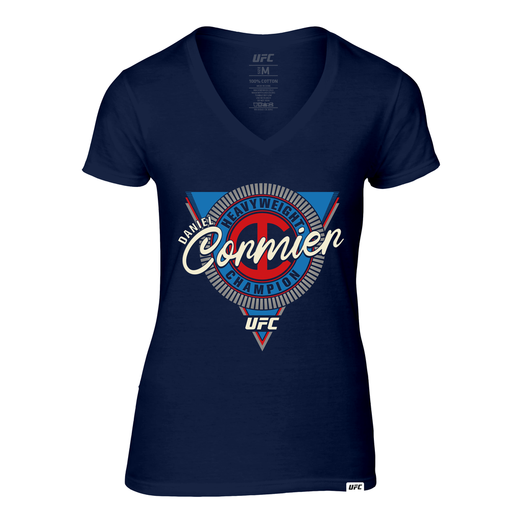 "Women's UFC Daniel ""DC"" Cormier Heavyweight Symbol Graphic T-Shirt-Navy"