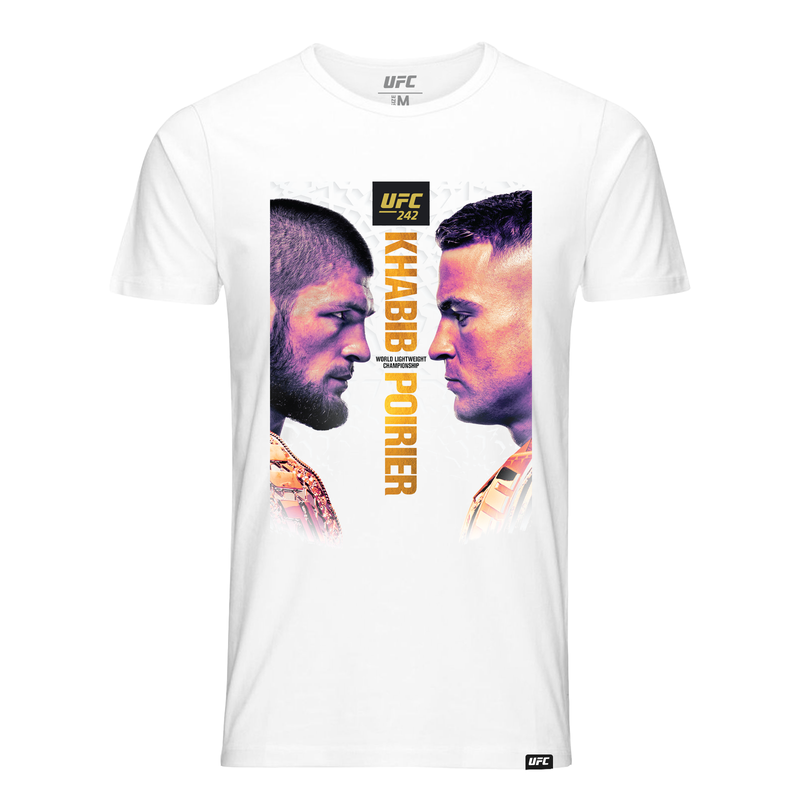 Men's UFC 242 Khabib vs Poirier Event T-Shirt-White