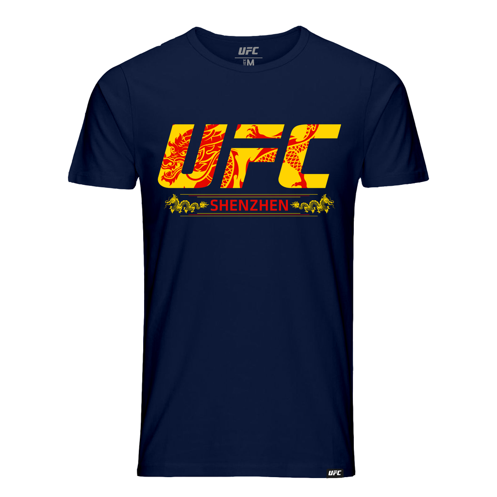 Men's UFC Fight Night Shenzhen Location T-Shirt -Navy