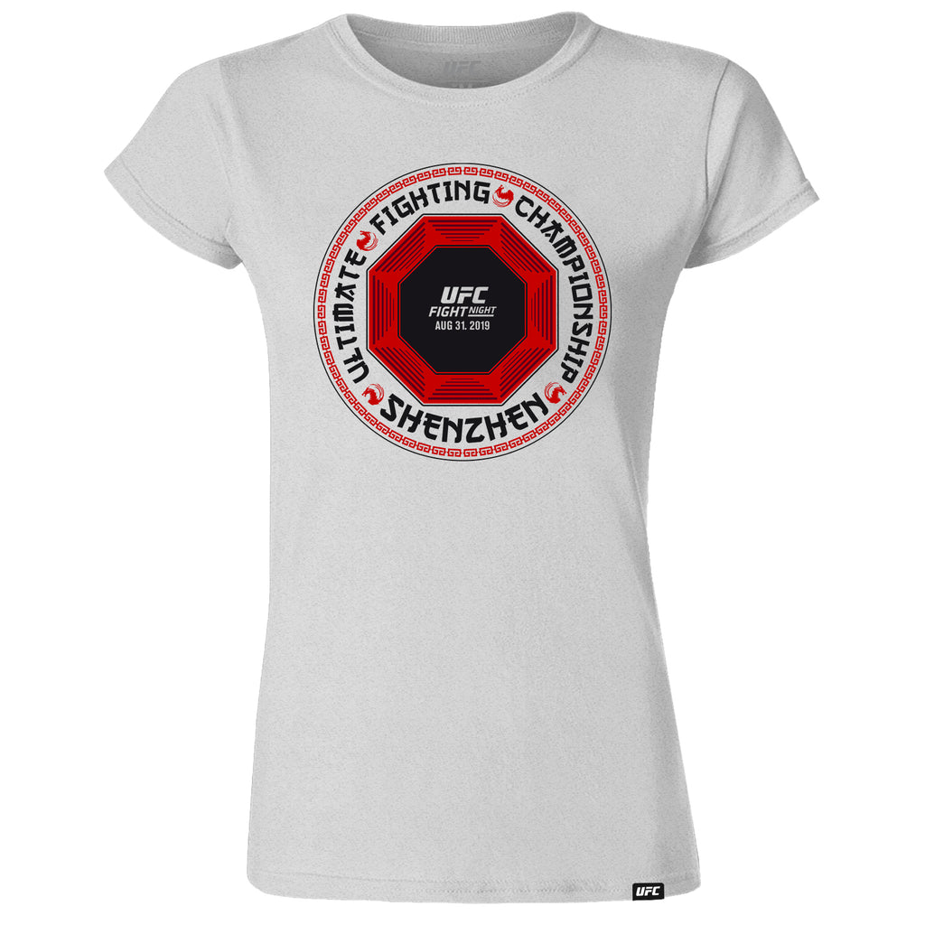 Women's UFC Fight Night Shenzhen Location T-Shirt -Grey