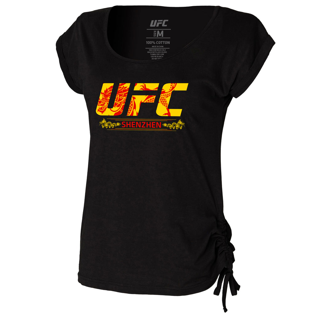 Women's UFC Fight Night Shenzhen Location Slounge Top -Black