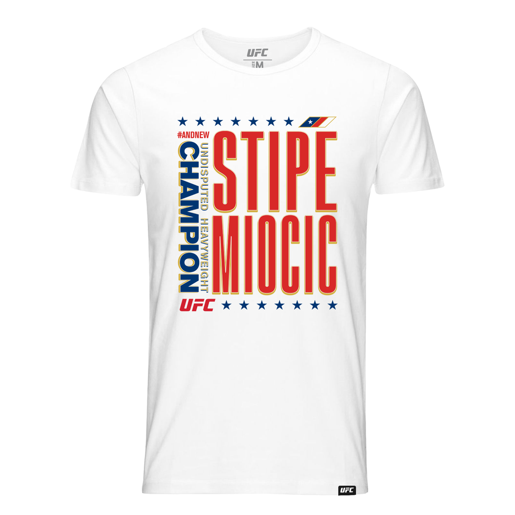 #AndNew Men's UFC Stipe Miocic Heavyweight Champion T-Shirt-White
