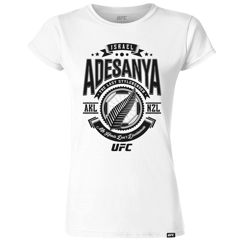 "Women's Israel ""The Last Stylebender"" Adesanya My Hands Quote T-Shirt- White"