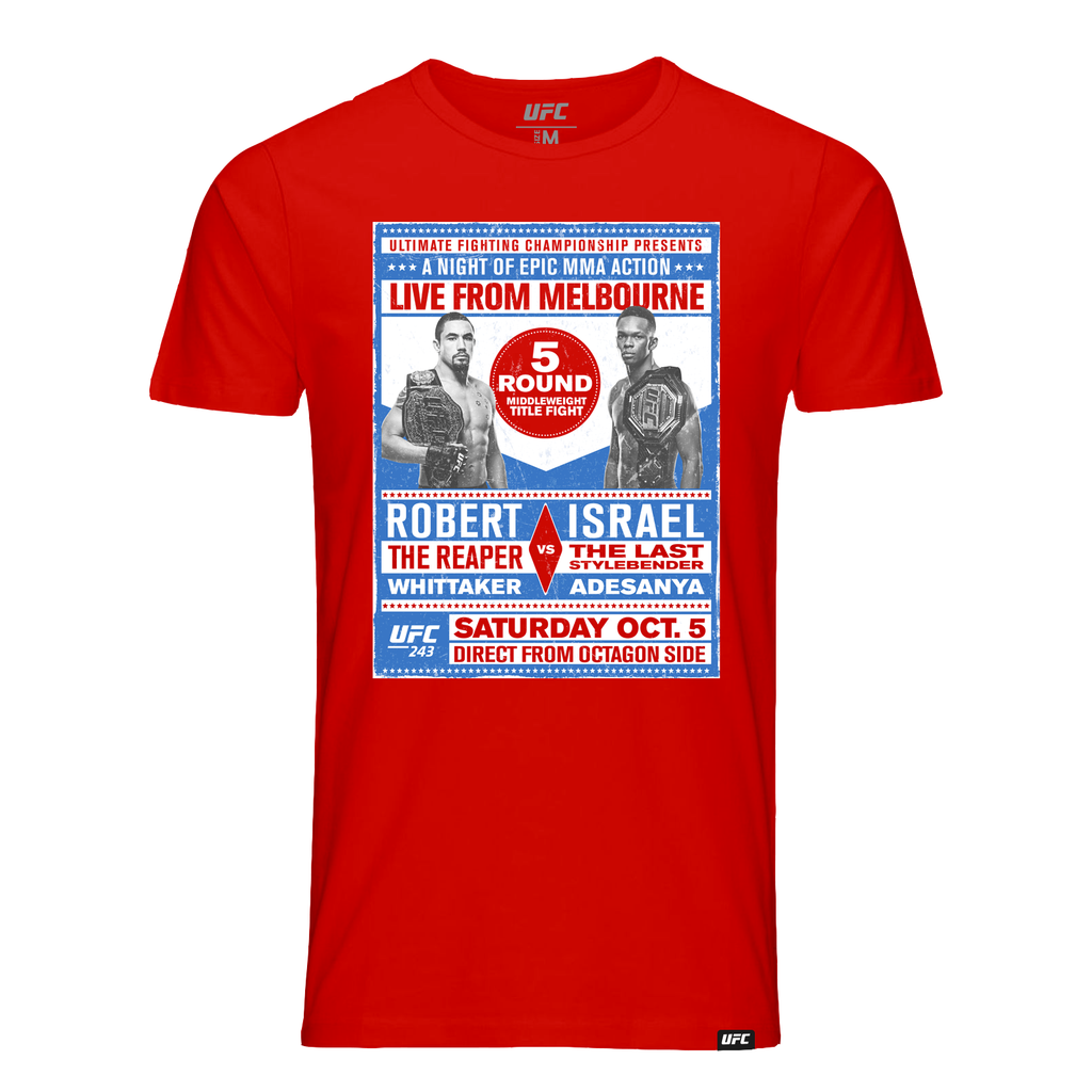 Men's UFC 243 Whittaker vs. Adesanya Match up T-Shirt - Red