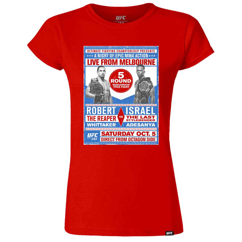 Women's UFC 243 Whittaker vs. Adesanya Match up T-Shirt - Red