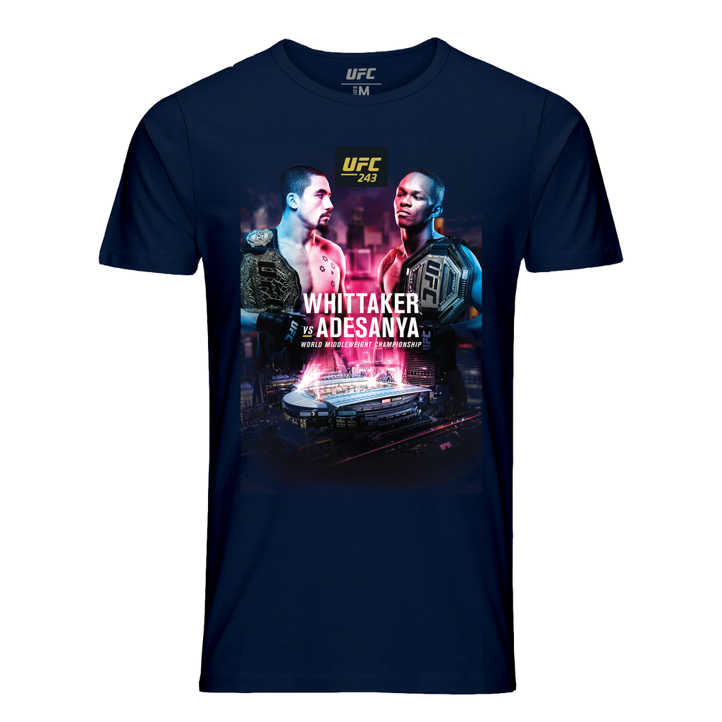 Men's UFC 243 Whittaker vs. Adesanya Event T-Shirt - Navy