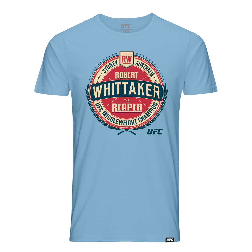 "Men's Robert ""The Reaper"" Whittaker Vintage Crest Graphic T-Shirt- Blue"