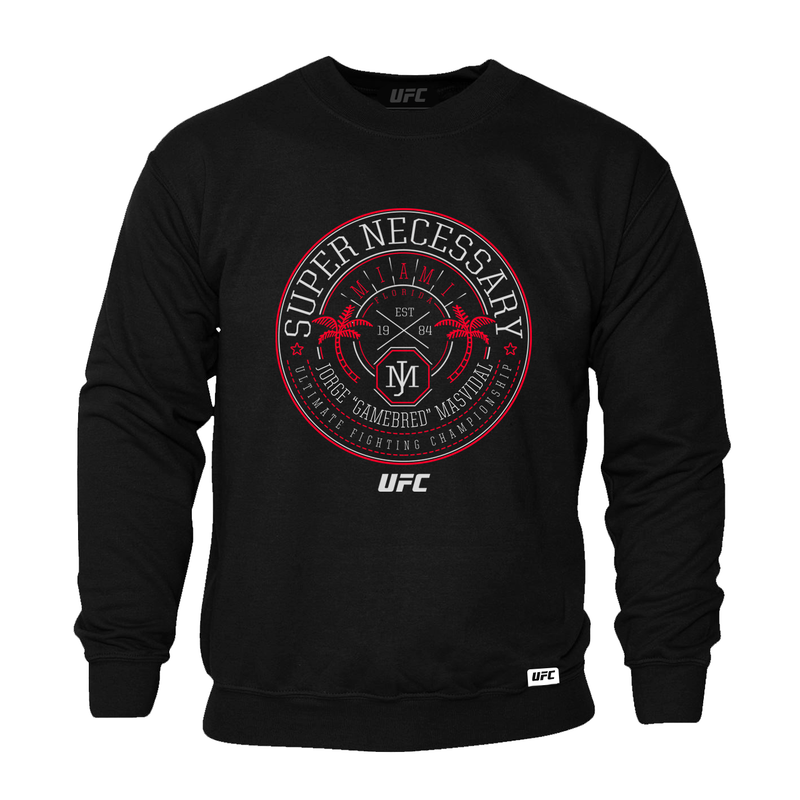 "Men's UFC Jorge ""Gamebred"" Masvidal Super Necessary Sweatshirt- Black"