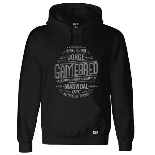 "Men's UFC Jorge ""Gamebred"" Masvidal Super Necessary Graphic Hoodie- Black"