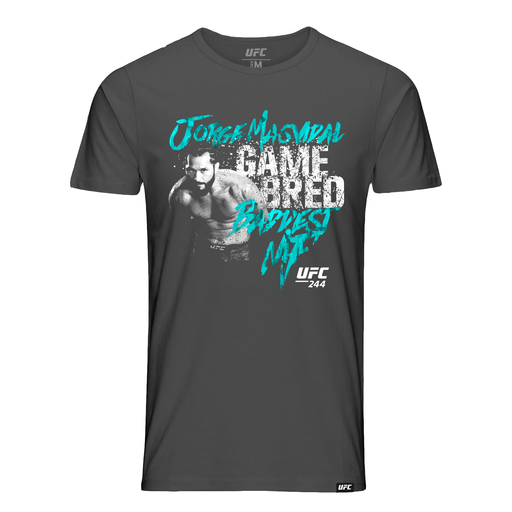 "Men's UFC Jorge ""Gamebred"" Masvidal Baddest MF Graphic T-Shirt-Charcoal"