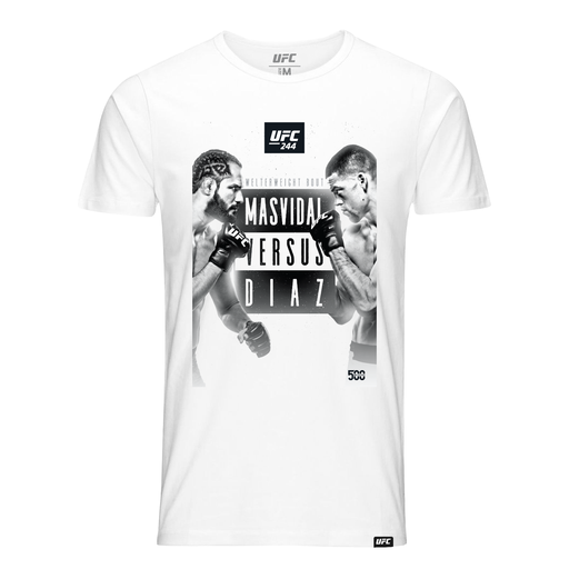 Men's UFC 244 Masvidal vs Diaz Commemorative Event Graphic  T-Shirt-White